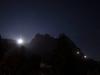 Mond Fiescherhörner und Eiger