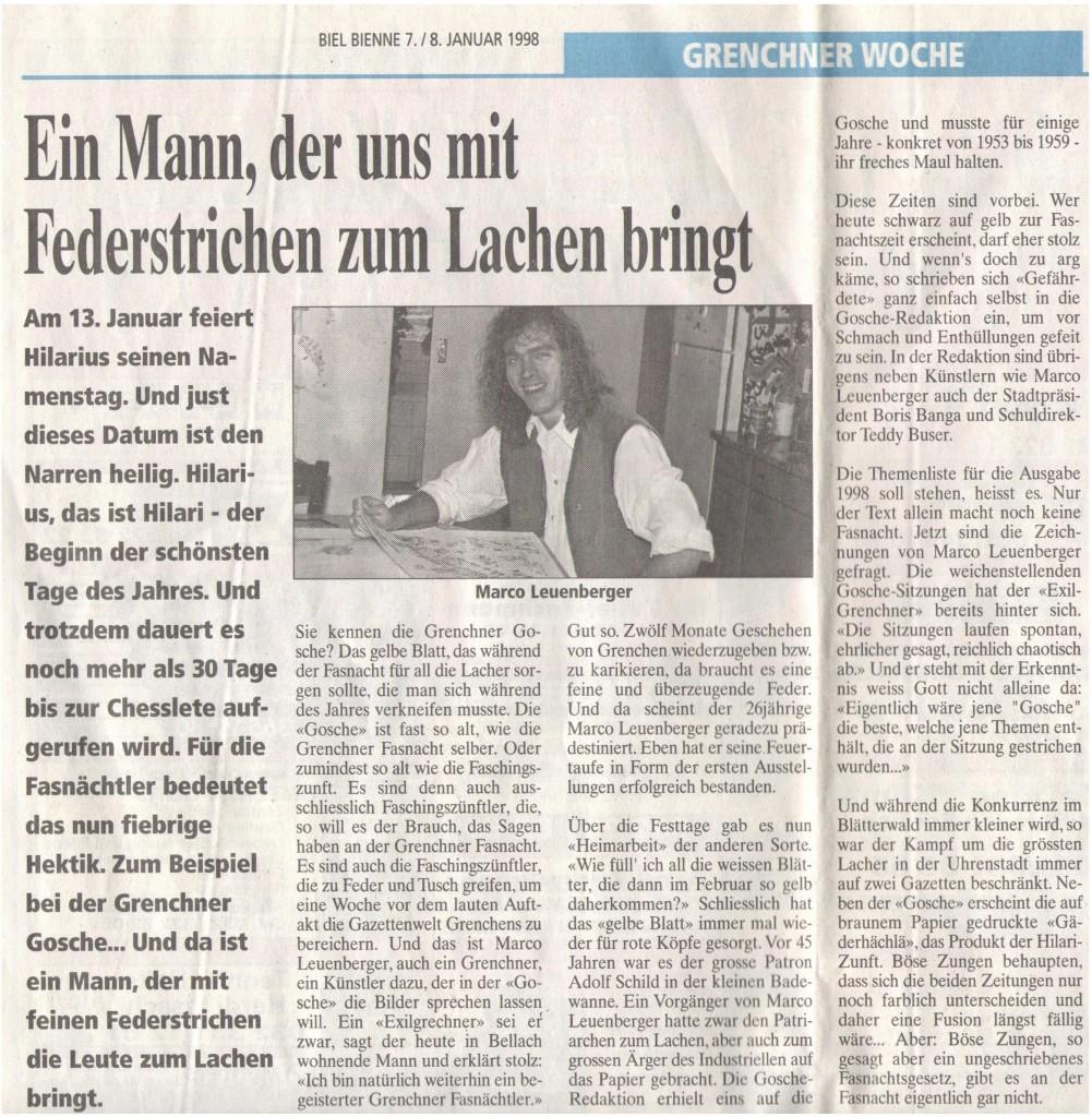Zeitungsartikel 1998